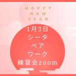 シータヒーリング 2021年!1月3日「簡単にできるペアワーク練習会」のお知らせ